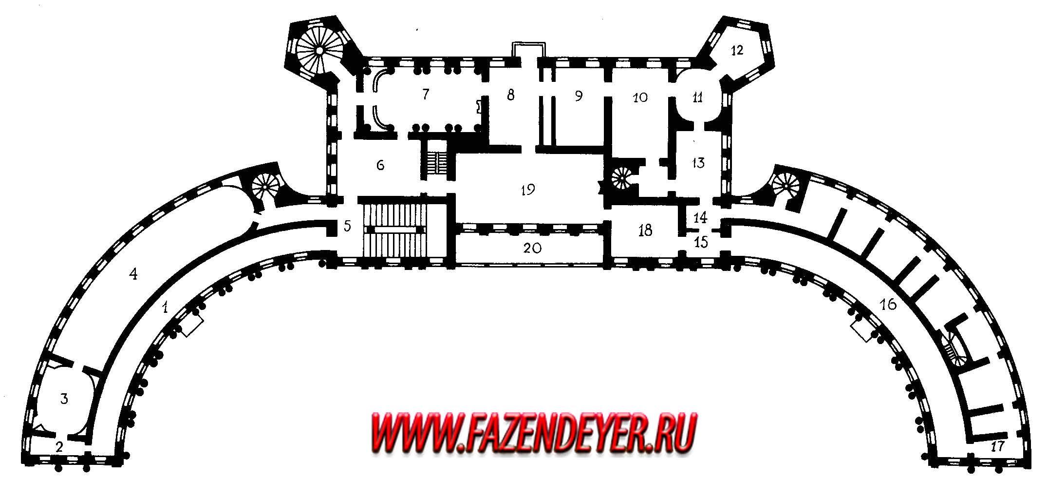 Гатчинский дворец схема внешнего строения